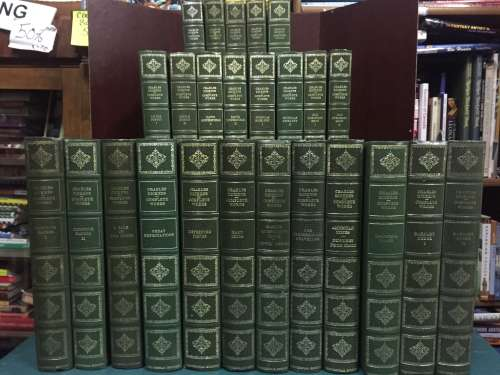 WHAT THE DICKENS!!!  COMPLETE WORKS OF CHARLES DICKENS - HERON BOOKS CENTENNIAL EDITIONS (36 volume set)